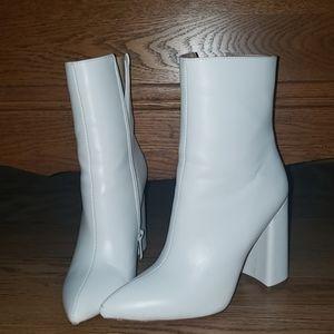 White goo goo boots